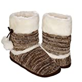 Emmalise Women's Slipper Boots Indoor Lounge Fur Shoes Fur Boots for Women - Heather Pink, M/L (27cm)