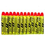 12 Pc Box Flourescent Red Markal F Paintstiks Glow UV Black Light Crayon Marks Metal Glass Wood Rubber for Auto Tire Construction Lumber