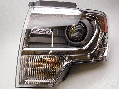 2013 Ford F150 LH Drivers Side Decontented Chrome HID Headlamp Headlight OEM NEW DL3Z-13008-AC ()