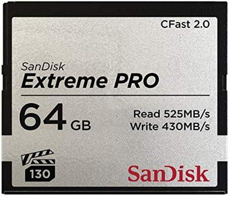 Sandisk SDCFSP-064G-G46D Extreme PRO CFast 2.0 Memory Card f