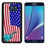 samsung galaxy note5 usa MSD Premium Samsung Galaxy Note 5 Note5 Aluminum Backplate Bumper Snap Case IMAGE ID: 12124211 liberty statute on USA flag background