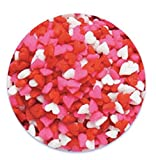 valentines baking sprinkles - Oasis Supply Valentine's Hearts Sprinkle Quins, 8-Ounce, Red, White and Pink