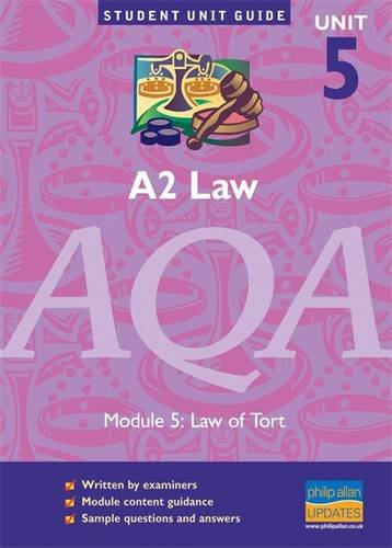 A2 Law AQA: Law of Tort: Unit 5