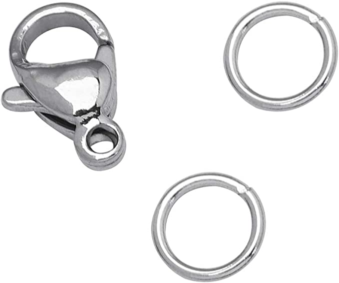 NaturSchatulle Double Lobster Clasp 100/% Sterling Silver 925 I 1 Piece Jewellery Clasp 22 mm Carabiner Clasp Chain Clasp Craft Jewellery Making