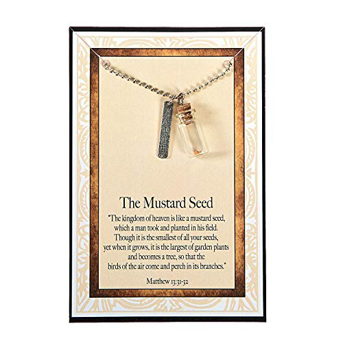 Fun Express - Mustard Seed Necklaces W/Card - Jewelry - Necklaces - Necklaces - Novelty - 12 Pieces