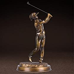 ELEGENCE-Z European Style Golf Boy Girl Sports Sculpture Ornament Decoration Home Crafts Art Gifts Modern Fashion,B