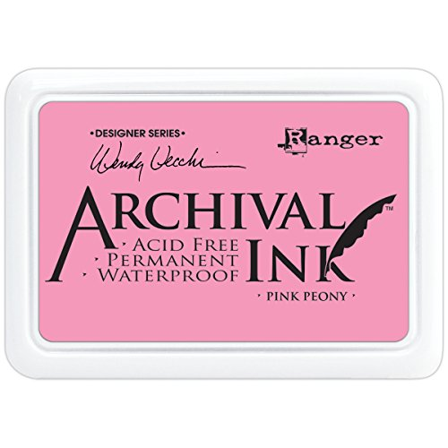 Ranger tampons d'encre d'archives, rose pivoine