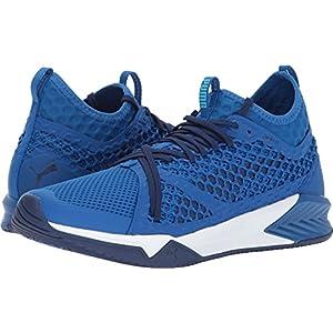 PUMA Men's Ignite XT Netfit Cross-Trainer-Shoes, Lapis Blue White, 10.5 M US