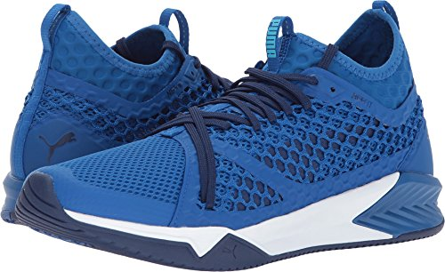 PUMA Men's Ignite XT Netfit Cross Trainer, Lapis Blue White, 9.5 M US Review