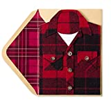 Mans Flannel Shirt Blank Birthday Card