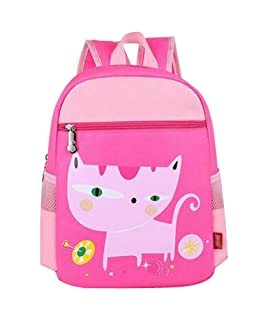 School Bags Childrens Backpack For School Toddle Backpack Baby Bag(Pink Cat) Black Temptation