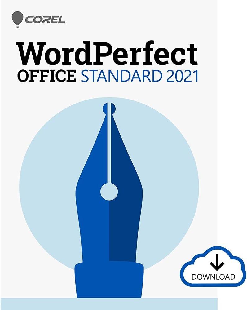 Corel WordPerfect Office Standard 2021   Office Suite of Word Processor, Spreadsheets & Presentation Software [PC Download]