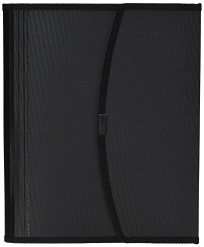 Smead Poly Pro Series II Pad Folio, 7-Pocket Expanding File, Letter Size, Black (85830)