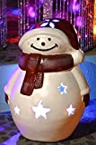 Ravenna Happy Snowman Christmas Luminary, 13.5-Inch