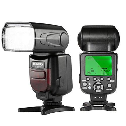 Beschoi I-TTL Speedlite Flash Professional Camera Flash Auto-Focus Wireless Slave Function Compatible Nikon DSLR Cameras