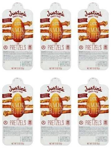 ond Butter Snack Pack with Pretzels 1.3oz (Pack of 6) (Classic Almond Butter)