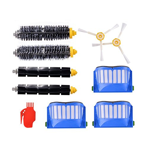 ZXX Accessory for irobot Roomba 600 Series 610 620 630 650 660 690 Vacuum Cleaner Replacement Spare Brush Kit, includes Bristle Brushes, Beater Brushes, Filters, 3-Arm Side Brushes, Cleaning Tool
