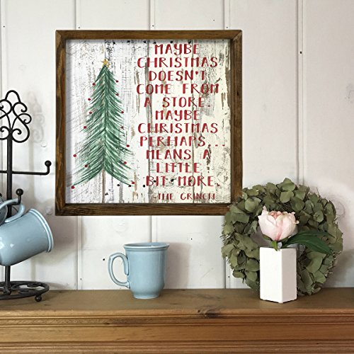 LaModaHome Words Home Decors - Maybe Christmas Doesn't Come