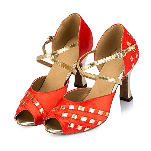 Red Misu De Mujer Zapatillas Rojo Danza Para rqF4OwPpqY