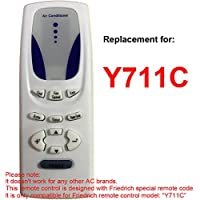 Replacement for FRIEDRICH Air Conditioner Remote Control Model Number Y711C Works for CP14E10 CP14N10 CP15F10 CP18C30 CP18E30 CP18F30 CP18N30 CP24E30 CP24F30 CP24N30