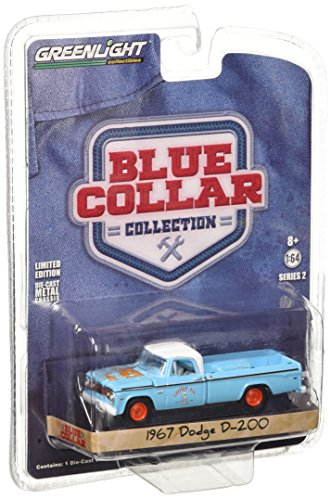 Greenlight 1:64 Blue Collar Collection Series 2 1967 Dodge D-200 Diecast Vehicle
