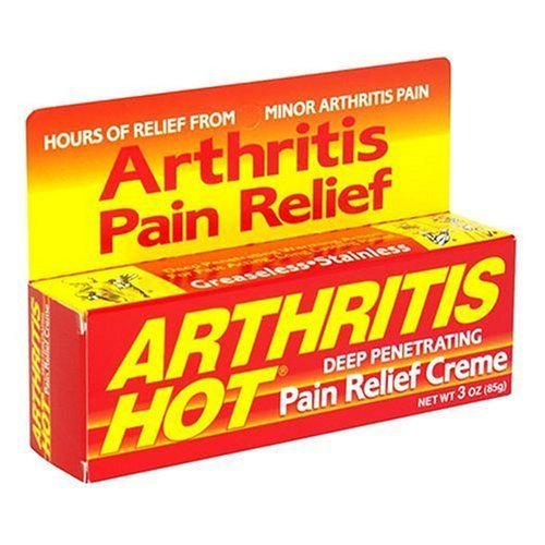 L'arthrite de secours à chaud pénétrant en profondeur Crème Douleur 3 once (Pack de 6)