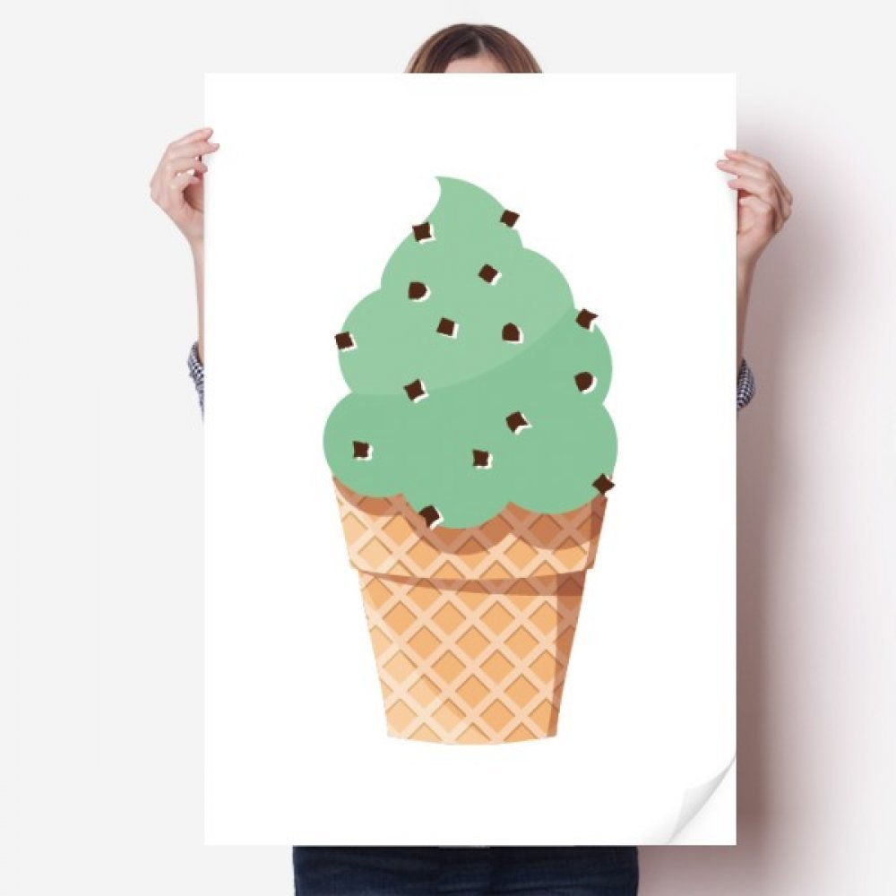Diythinker Green Oatmeal Ice Cream Illustration Vinyl Wall