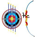 Liberty Imports Sport Toy Archery Bow and Arrow Set for Kids with Suction Cup Arrows and Target
