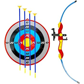 Amazon Com Kiddie Play Toy Archery Set For Kids With Target And Bow