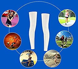 ChezMax Leg Compression Socks for Running, Cycling, Nurses-one pair, Blue