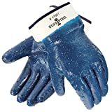 Galeton 11957-XL Blue Steel Nitrile Coated Gloves Rough Finish, Safety Cuff, XL, Blue (Pack of 12)