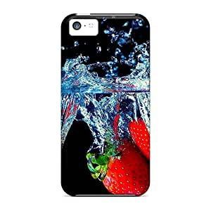 Melodycc Snap On Hard Case Cover Strawberry Splash Protector For Iphone 5c