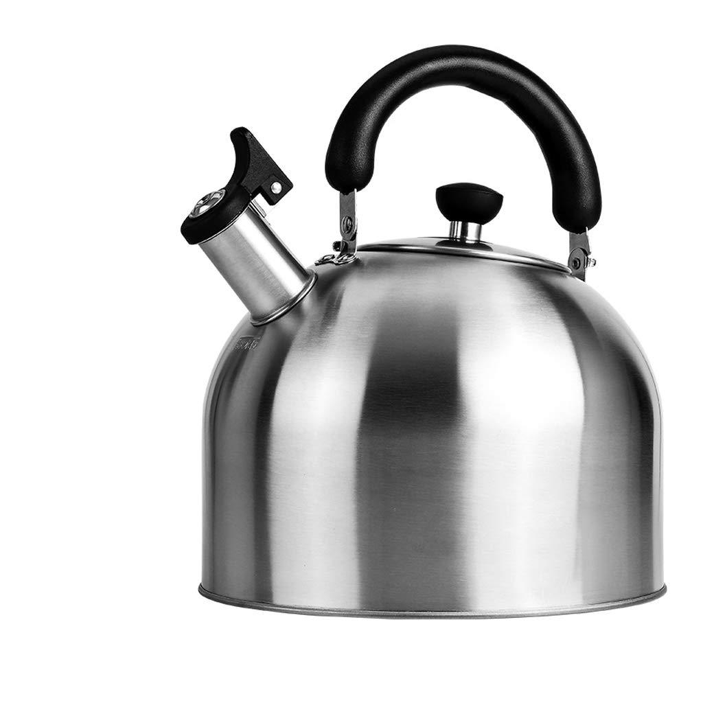 Kessel FJH Kesselpfeifen-Gasherd-Gaskocher des rostfreien Stahls pfeifende universelle Heißwasserflasche nach Hause (größe : 5L)