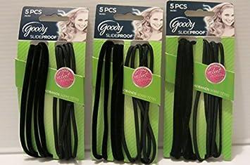 Amazon.com   Goody Slide Proof Headbands Velvet Elastic Headwraps Black 5  Count (Pack of 3)   Beauty c8b04c7b1f6