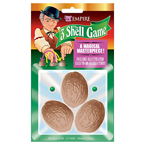 Loftus International Empire Magic Three Shell Game Novelty - Pea Shell