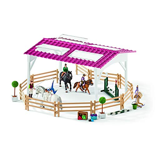 Schleich Horse Club Riding School with Riders & Horses Toy Figure ()