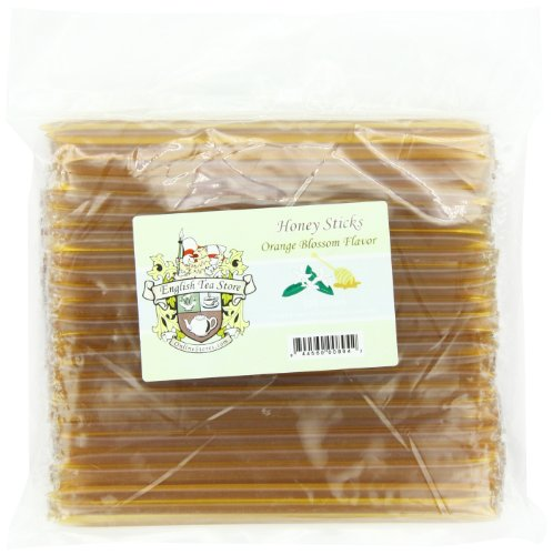 English Tea Store Honey Sticks, Orange Blossom, 100 - Store Blossom Orange