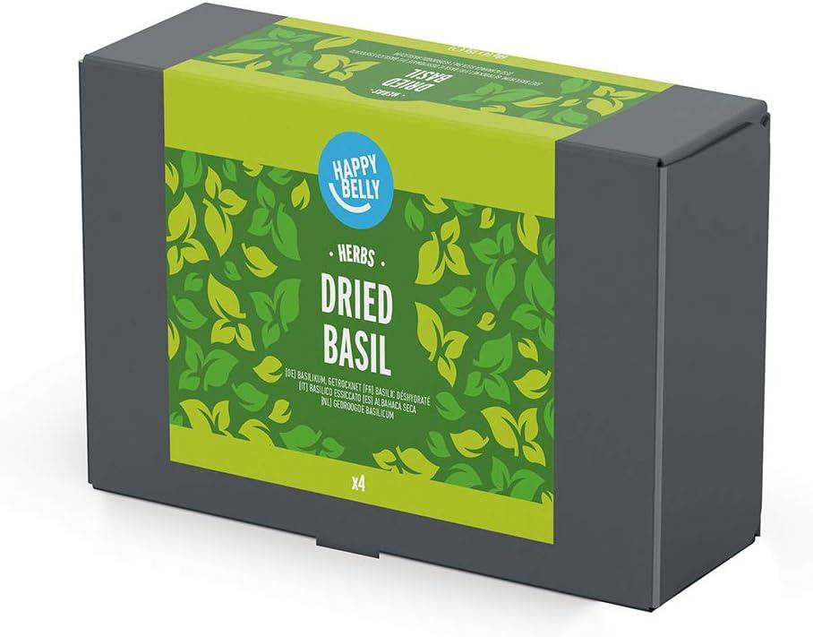 Amazon Brand - Happy Belly - Albahaca seca - 4x15g: Amazon.es ...