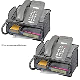SAF2160BL - Safco Onyx Angled Mesh Steel Telephone Stand, 2-Pack