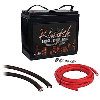 Kinetik HC3800-REV 3800 Watt 12V Car Audio Power Cell Battery+Power/Ground Wires