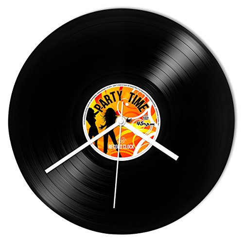 Price comparison product image Wanduhr Schallplatte Party Time Retro Record Clock