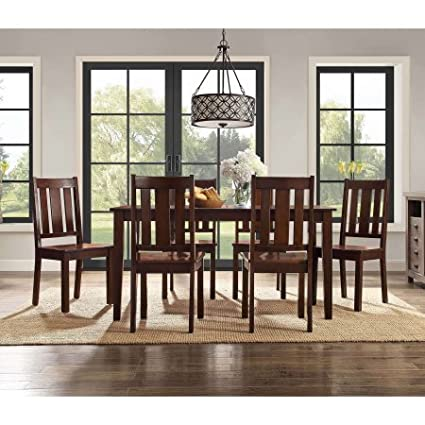 Amazoncom Better Homes And Gardens Bankston 7 Piece Dining Set