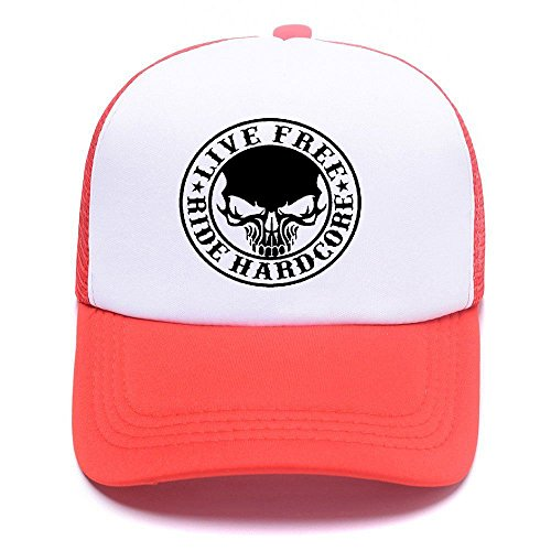 Harley D Black Baseball Caps Gorras de béisbol Trucker Hat Mesh Cap For Men Women Boy Girl 004 Red