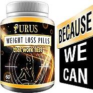 Urus - Weight Loss Pills - Diet Pills, Fat Burner, Carb Block & Appetite Suppressant - Dietary - URUS Work Fast for Women and Men