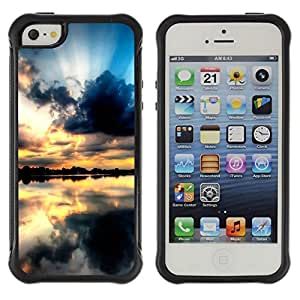 """Hypernova Defender Series TPU protection Cas Case Coque pour Apple iPhone SE / iPhone 5 / iPhone 5S [Sunset Beautiful Nature 68""""]"""