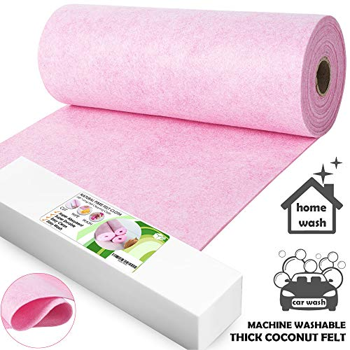 Felt Cleaning Cloths Machine Washable – Reusable Car & Kitchen Dish Cloths Absorbent Towels in Roll Leather Wipes Rag…