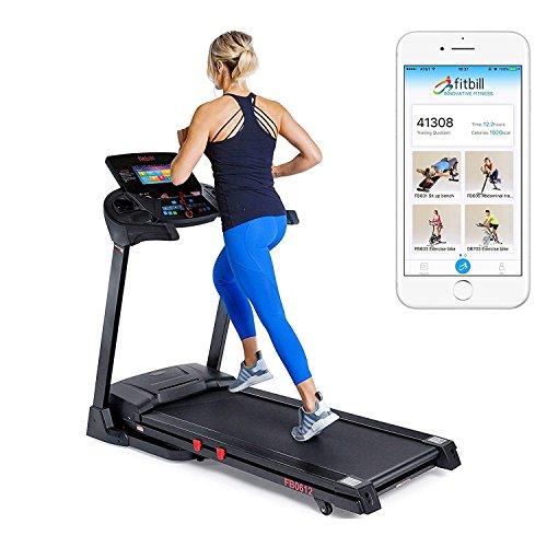 fitbill B612 Smart Treadmill 10″ Touch Screen, WIFI Fitness App