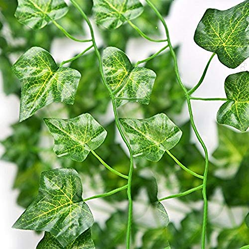 TRvancat Artificial Ivy Leaf Garland, Fake Greenery 84 Ft 12 Pack Hanging Vines, Fake Foliage Plants Wedding Arch Home Wall Decor -