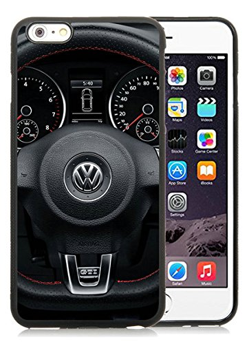 iPhone 6 Plus Case,Volkswagen Logo 1 Black Case for iPhone 6S Plus 5.5 Inches,TPU Cover