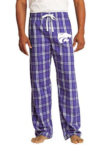 K-State Pajamas or Kansas State Lounge Pants Bottoms for Guys or Girls XL -